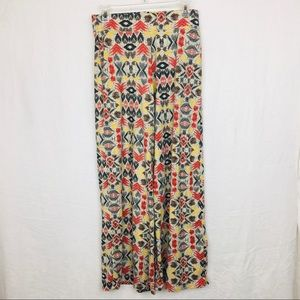 Cato Aztec Inspired Pull-On Pallazzo Pants Size S